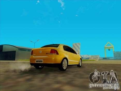 Volkswagen Voyage Comfortline 1.6 2009 для GTA San Andreas вид сзади слева