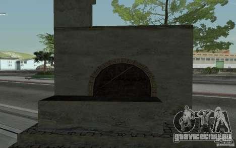 Печка для GTA San Andreas вид сзади слева