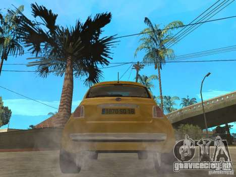 Fiat 500 C для GTA San Andreas вид сзади слева