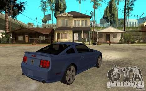 Ford Mustang 2005 для GTA San Andreas вид справа