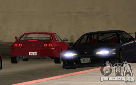 Honda Integra Type R для GTA San Andreas вид изнутри