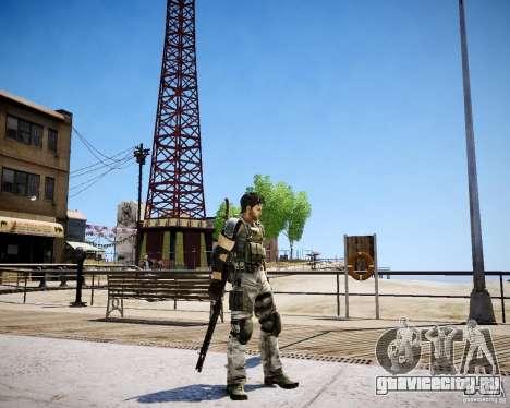 Chris from Resident Evil 5 для GTA 4 четвёртый скриншот