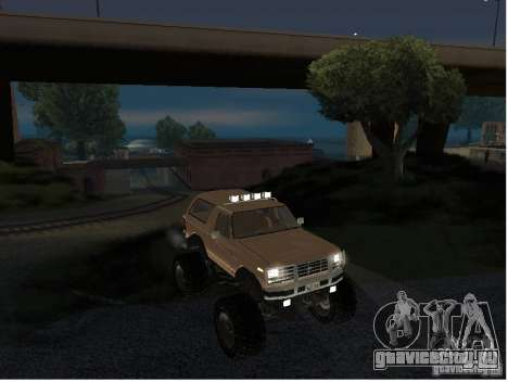 Ford Bronco IV Monster для GTA San Andreas вид справа