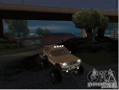 Ford Bronco IV Monster для GTA San Andreas вид справа