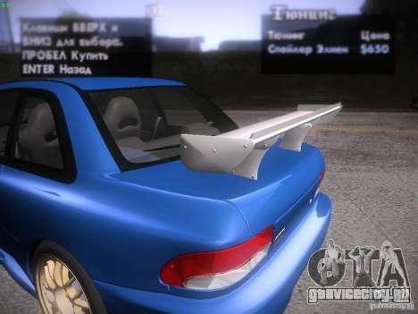 Subaru Impreza 22b Tunable для GTA San Andreas салон