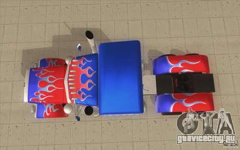 Peterbilt 379 Optimus Prime для GTA San Andreas вид справа