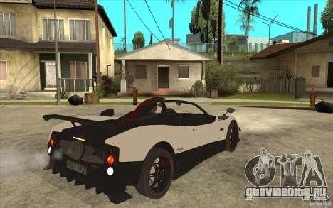 Pagani Zonda Cinque Roadster для GTA San Andreas вид справа