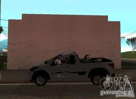 Peugeot Hoggar Escapade 2010 для GTA San Andreas вид сбоку