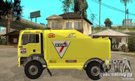 MAN TGA Rally OFFROAD для GTA San Andreas вид сзади слева