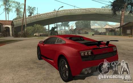 Lamborghini Gallardo LP 570 4 Superleggera для GTA San Andreas вид сзади слева