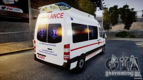 Mercedes-Benz Sprinter Iranian Ambulance [ELS] для GTA 4 вид сбоку