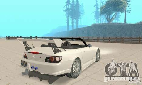 Honda S2000 Cabrio West Tuning для GTA San Andreas вид слева