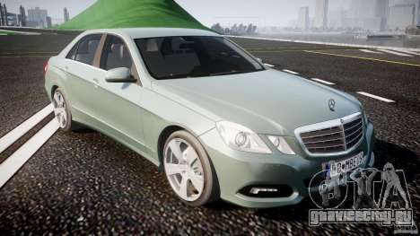 Mercedes-Benz E63 2010 AMG v.1.0 для GTA 4 вид изнутри