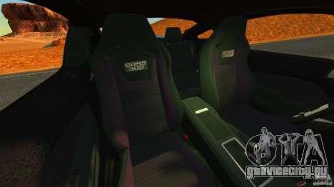 Ford Mustang Boss 302 2013 для GTA 4 вид изнутри