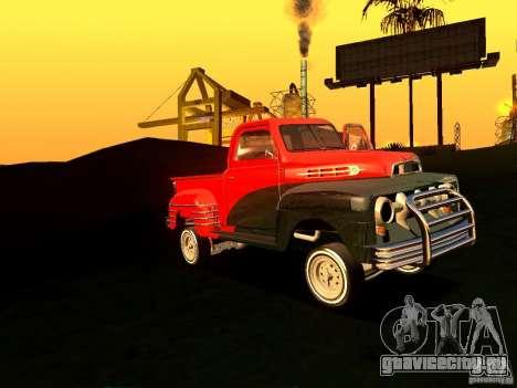 Ford Pick Up Custom 1951 LowRider для GTA San Andreas вид изнутри