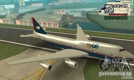 Самолёт из GTA 4 Boeing 747 для GTA San Andreas вид сзади