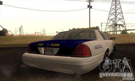 Ford Crown Alabama Police для GTA San Andreas вид слева
