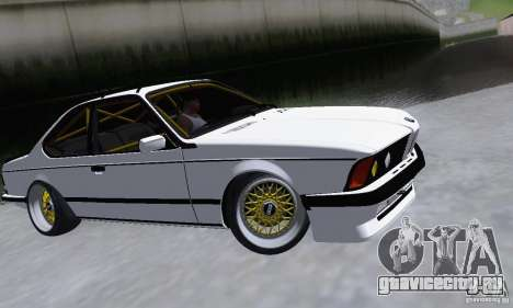 BMW M635CSi Stanced для GTA San Andreas вид слева