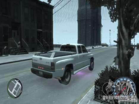Dodge Ram 3500 для GTA 4 вид сзади слева