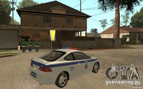 Acura RSX-S ДПС Barnaul City для GTA San Andreas вид справа