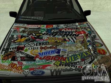 Volkswagen Golf 2 Rat Style для GTA San Andreas вид слева