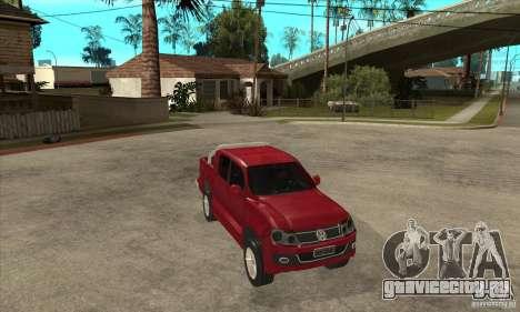 Volkswagen Amarok 2010 для GTA San Andreas вид сзади