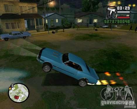 Возможность поднять машину на дыбы для GTA San Andreas второй скриншот