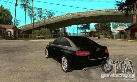 Audi RS6 2010 для GTA San Andreas вид сзади слева