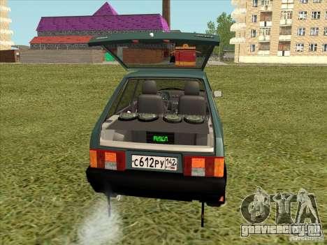 ВАЗ 2109 Final для GTA San Andreas вид сзади