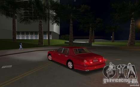 Bentley Arnage T 2005 для GTA Vice City вид изнутри