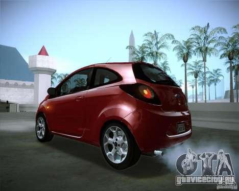 Ford Ka 2011 для GTA San Andreas вид изнутри