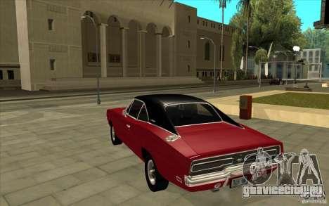Dodge Charger R/T 1969 для GTA San Andreas вид сзади слева