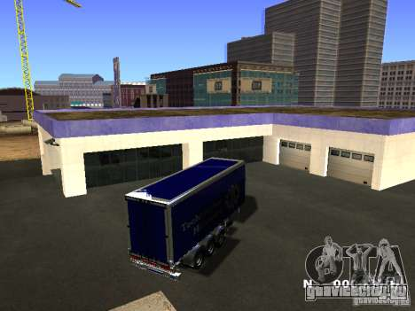 Прицеп для Iveco Stralis для GTA San Andreas вид слева