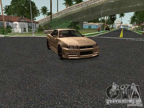 Nissan Skyline Z-Tune для GTA San Andreas вид слева