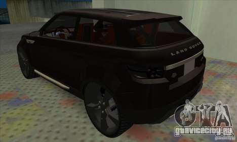 Land Rover LRX для GTA San Andreas вид справа