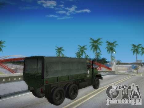 AM General M35A2 для GTA San Andreas вид изнутри