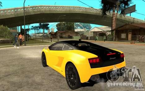 Lamborghini Gallardo LP560 Bicolore для GTA San Andreas вид сзади слева