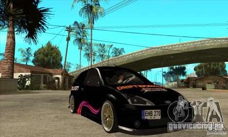 Ford Focus SVT для GTA San Andreas вид сзади