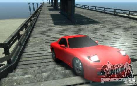 Mazda RX-7 v1 для GTA 4 вид сзади