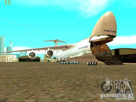 Lockheed C-5M Galaxy для GTA San Andreas вид сзади слева