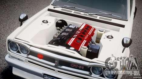 Nissan Skyline 2000 GT-R для GTA 4 вид изнутри