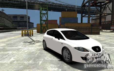 Seat Leon Cupra Light Tuning для GTA 4 вид сзади