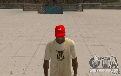 Кепка puma ярко красная для GTA San Andreas второй скриншот