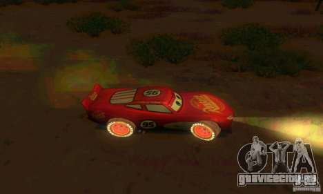 MCQUEEN from Cars для GTA San Andreas вид изнутри