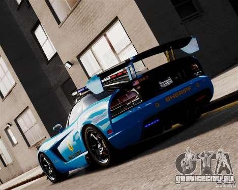 Dodge Viper SRT-10 ACR 2009 Police ELS для GTA 4 вид сзади слева