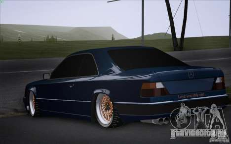 Mercedes-Benz W124 Low Gangster для GTA San Andreas вид слева