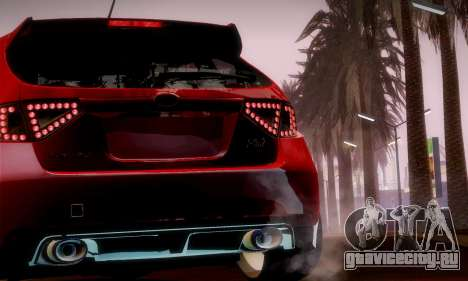 Subaru Impreza WRX Camber для GTA San Andreas вид сбоку