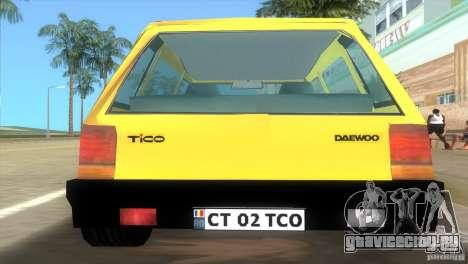 Daewoo Tico для GTA Vice City вид слева