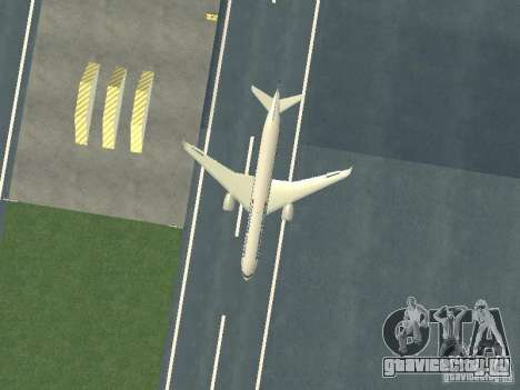 Airbus A350-900 Singapore Airlines для GTA San Andreas вид изнутри