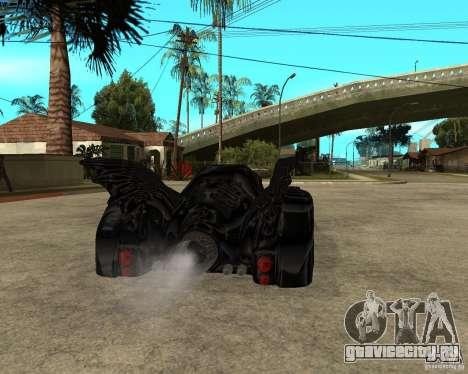 Batmobile для GTA San Andreas вид сзади слева